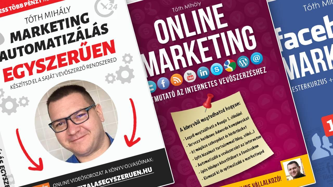 3db Ajándék Marketing Könyv